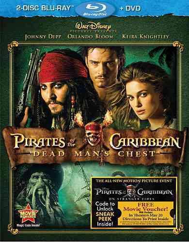 PIRATES OF THE CARIBBEAN:DEAD MAN'S C BY DEPP,JOHNNY (Blu-Ray)